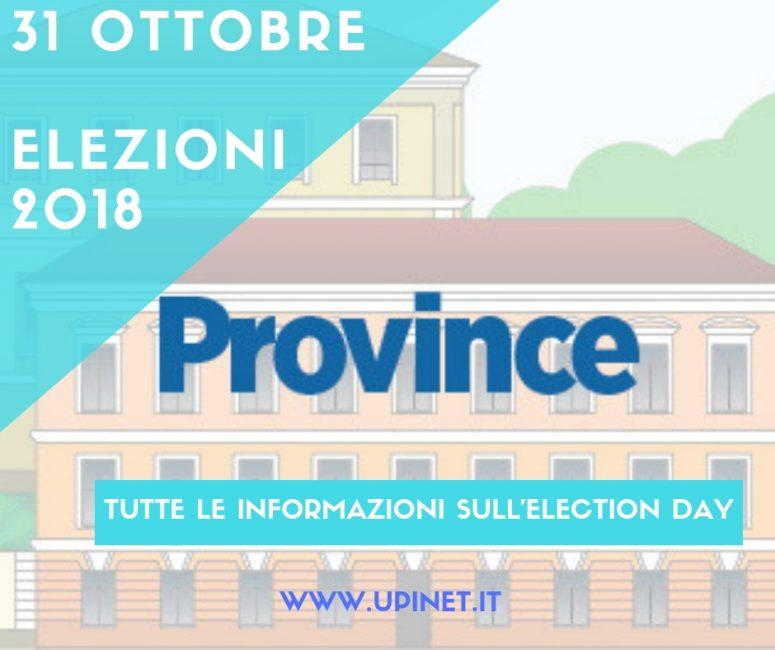 Elezioni Provinciali: il 31 ottobre election day