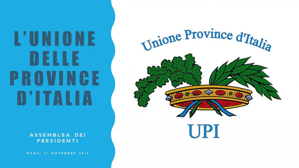 Domani a Roma l'Assemblea Nazionale Presidenti di Provincia: legge di bilancio e ruolo delle Province al centro del dibattito