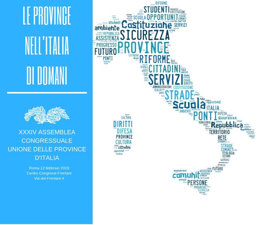 XXXIV ASSEMBLEA CONGRESSUALE DELL'UNIONE DELLE PROVINCE D'ITALIA