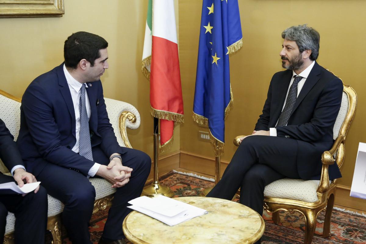 Riforme: l'UPI ricevuta dal Presidente della Camera, Roberto Fico