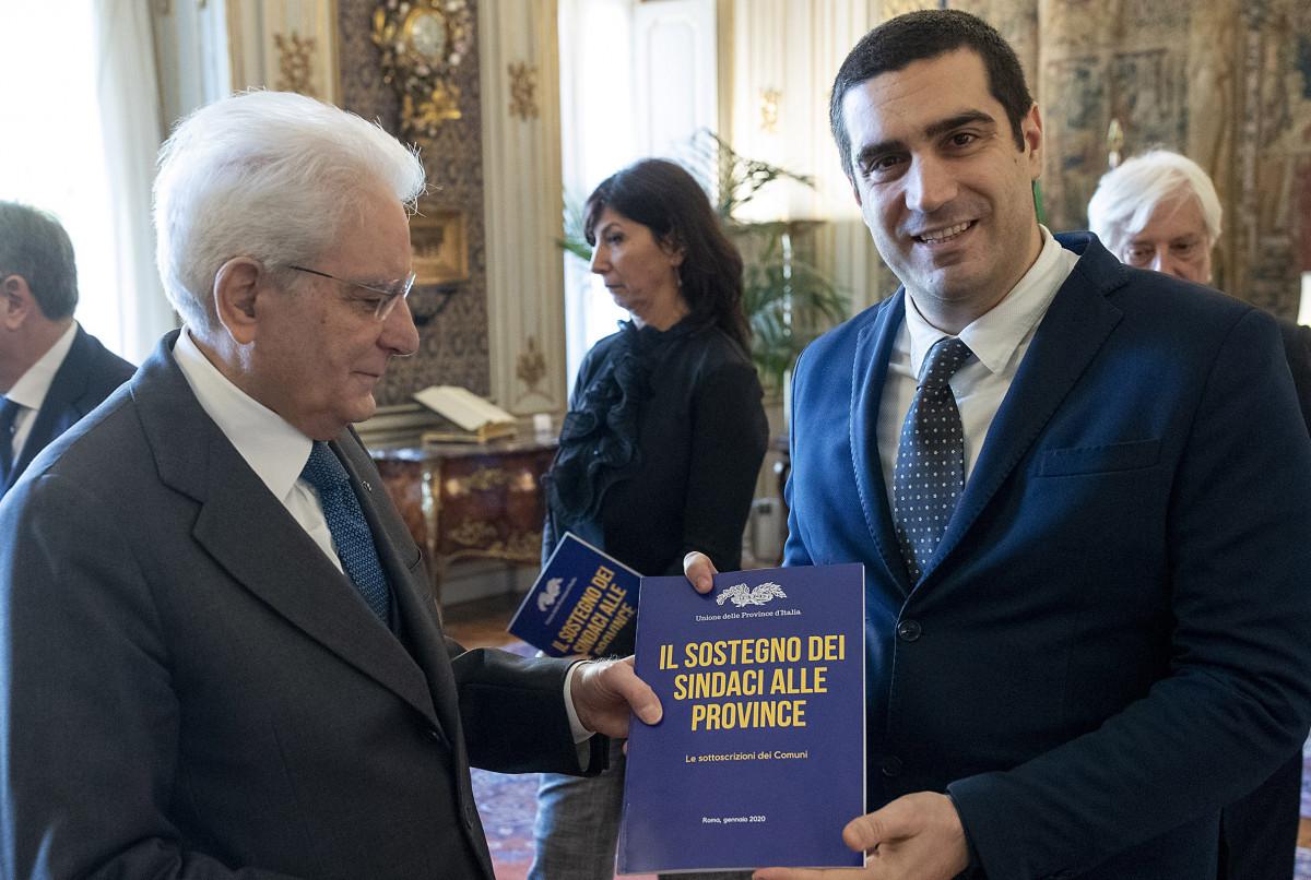 UPI: Consegnato a Mattarella l'elenco dei 4.300 Comuni a favore delle Province